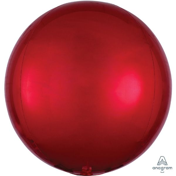 Red Round Orbz 15in Balloon